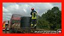 عملیات آتش نشانان در اتوبان سروان /فومن /بهمراه فیلم