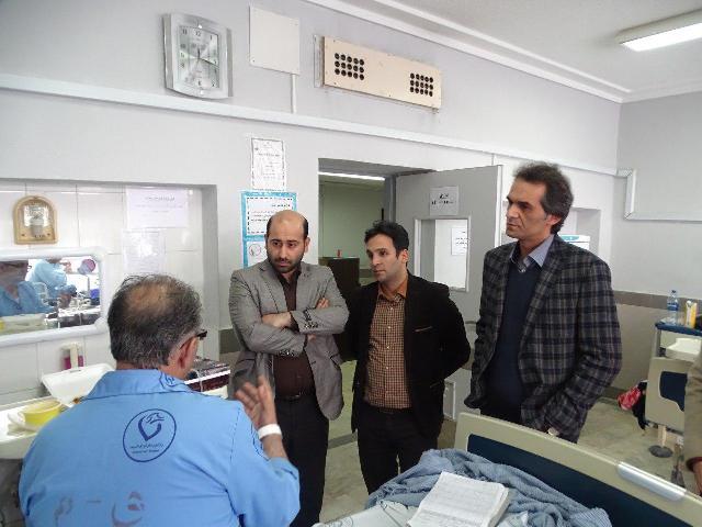 عیادت مدیرعامل سازمان حمل و نقل بار و مسافر شهرداری رشت از پرسنل بیمار سازمان